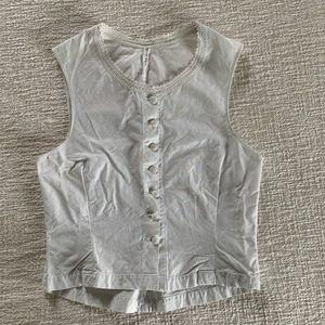 Antique Victorian Edwardian linen bodice vest top